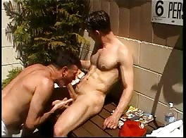 Very good looking str8 married ex Navy guy gets blowjob, rim and more from me.
