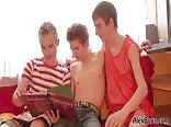 Story-Time Teen Boys Threesome
