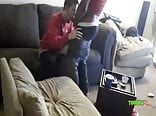 White Twink On Spycam Giving Head To Black Twink