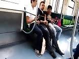 Naughty Teens on Train