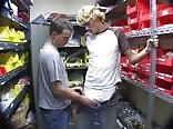 Jarrett Gets Jacked Off in the Store Room