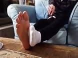 Cute Barefoot Guy Masturbating - Part 1