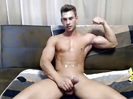 Muscle Boy Jerks Cums