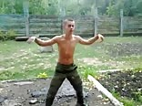 Russian soldier's training