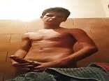 Brazilian boy shows his big cock