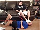 Young jock master male feet domination - under jocks feet