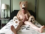 A103. Boy and his big TeddyBear