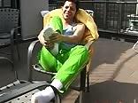 Rodrigo Shows his Feet Outdoors