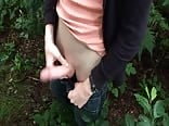 Wanking outdoors is exciting