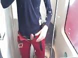 me cum in train toilet