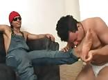 Latino hunk using twink for his fun