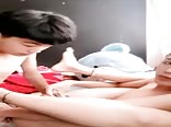 Young Asian couple make love