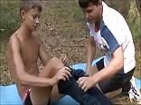 Boys In The Woods Wank & Cum
