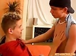 blond twink porn Michael riding raw cock after massage